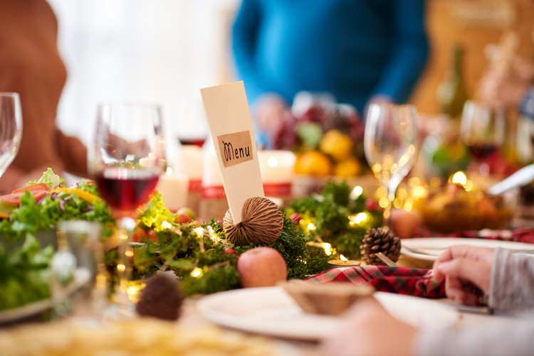 Menu de Noël pour un restaurant