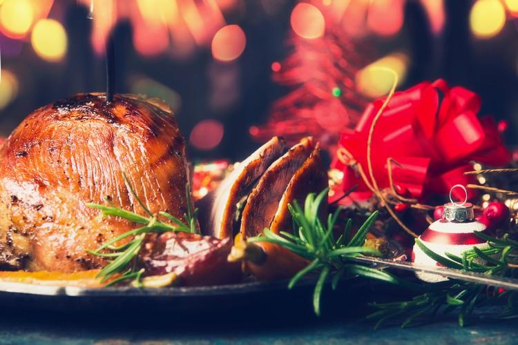 Repas de Noël dans un restaurant