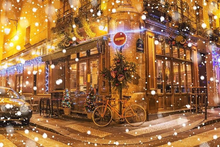 Décoration de Noël restaurant